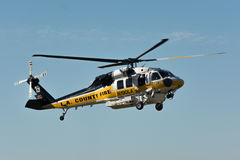 Sikorsky S-70A Firehawk helicopter during Los Angeles American H Royalty Free Stock Image