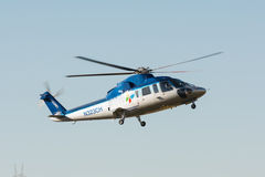 Sikorsky S-76 helicopter  during Los Angeles American Heroes Air Royalty Free Stock Photo