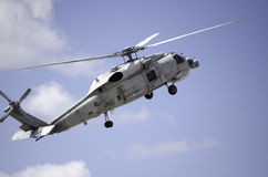 Sikorsky uh 60 navy up nose blue sky Royalty Free Stock Images