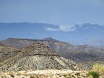 Sikt över öknen av Tabernas arkivfoto