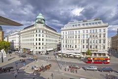 Sikt över Albertinaplatz Royaltyfri Fotografi