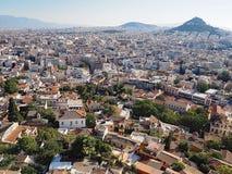 Sikt över Aten från akropolen Royaltyfri Foto