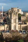 Sikt över Bristol With Wills Memorial Building arkivfoton