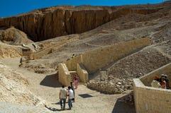 Sikt över dalen av konungar nära Luxor egypt Royaltyfri Fotografi