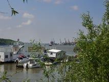 Sikt över Danube River i Braila, Rumänien Arkivfoton