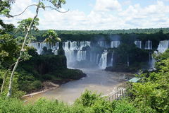Sikt över de Igussu nedgångarna i Sydamerika Arkivbilder
