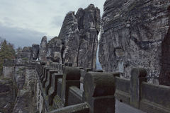 Sikt över den Bastei bron Arkivbild
