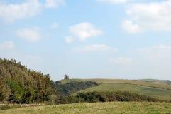 Sikt över den Dorset kusten, Abbotsbury trädgårdar Fotografering för Bildbyråer