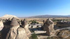 Sikt över den Goreme staden i Cappadocia