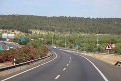 Sikt över den Majorca huvudvägen royaltyfri foto