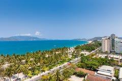 Sikt över den Nha Trang staden, Vietnam Royaltyfri Bild