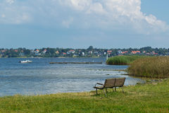 Sikt över den Roskilde fjorden Arkivbilder