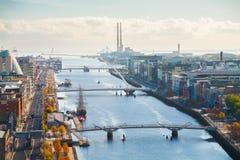 Sikt över Dublin Arkivfoto