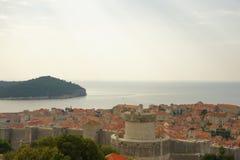 Sikt över Dubrovnik Arkivfoto