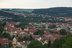 Sikt över Eisenach Arkivbild
