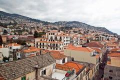 Sikt över Funchal, capital av Madeira Fotografering för Bildbyråer