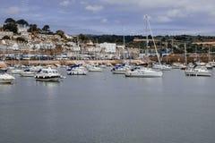 Sikt över hamnen av Penzance arkivbilder