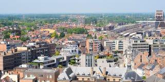 Sikt över Hasselt, Belgien Arkivbilder