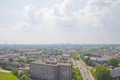 Sikt över holländsk stad av Beverwijk Arkivbild