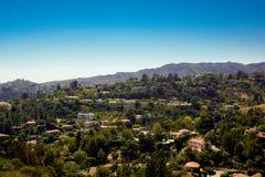 Sikt över hollywood bostadsområde arkivfoto