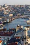 Sikt över Istanbul Arkivfoton