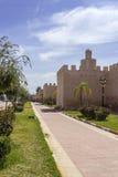 Sikt över Kasba Tadla stadsfästning i det Beni-Mellal landskapet Arkivfoto