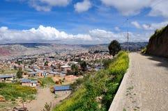 Sikt över La Paz, Bolivia royaltyfria bilder