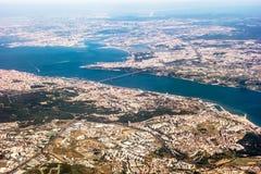 Sikt över Lissabon - flyg- sikt Royaltyfria Bilder