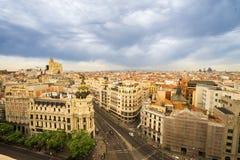 Sikt över Madrid royaltyfri fotografi