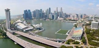 Sikt över Marina Bay i Singapore Royaltyfri Fotografi