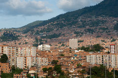 Sikt över Medellin arkivbilder