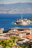 Sikt över Messina, Sicilien Royaltyfri Fotografi