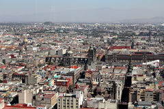 Sikt över Mexico - stad, Mexico royaltyfri foto