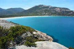 Sikt över Norman Bay i Wilsons uddenationalpark Royaltyfri Bild