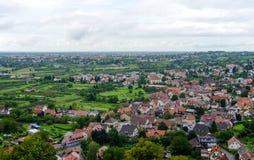 Sikt över Offenburg, Tyskland Royaltyfri Foto