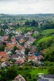 Sikt över Offenburg, Tyskland Fotografering för Bildbyråer