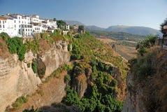 Sikt över Ronda i Andalucia Royaltyfria Bilder