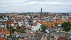 Sikt över Schwerin Arkivbild
