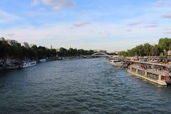 Sikt över Seine River från Eiffeltorn i Paris, Frankrike royaltyfria bilder