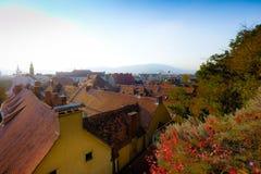 Sikt över staden av Graz arkivbild