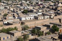 Sikt över staden av Khiva i Uzbekistan Arkivbilder
