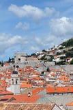 Sikt över tak i Dubrovnik Royaltyfri Foto