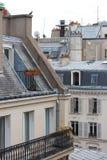 Sikt över taken av Paris Arkivbild