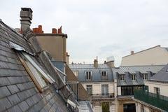 Sikt över taken av Paris Arkivfoto
