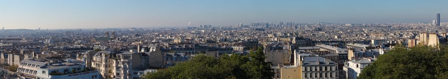 Sikt över taken av Paris Royaltyfri Fotografi