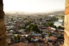 Sikt över Tbilisi Arkivfoton