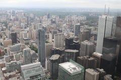 Sikt över Toronto från CN-tornet Royaltyfri Bild