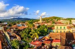 Sikt över Trinidad, Kuba arkivfoto