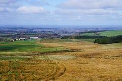 Sikt över västra Lancashire Arkivfoto