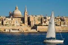 Sikt över Valletta Arkivbilder